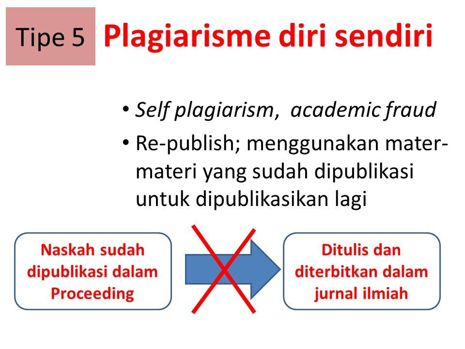 Plagiarisme diri sendiri