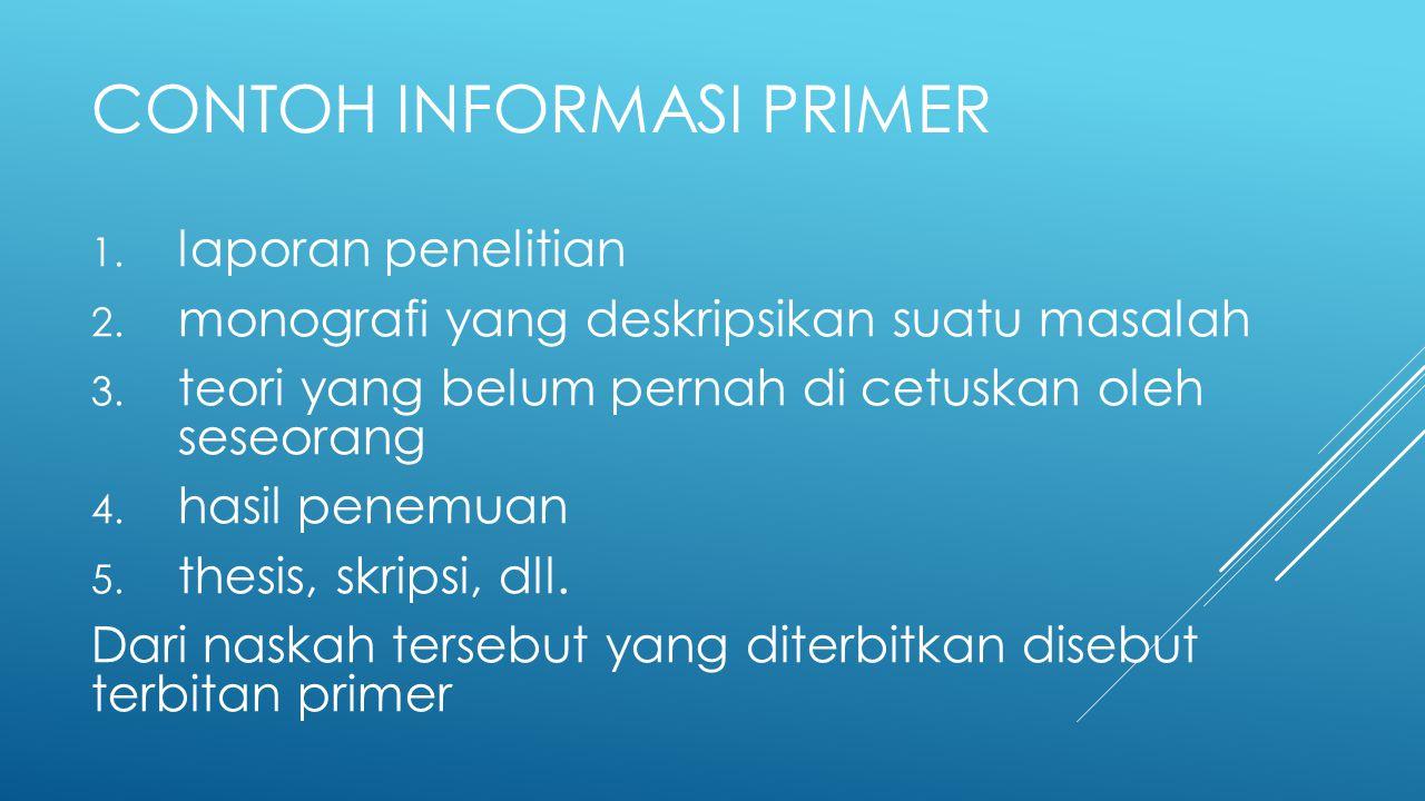 Contoh Informasi Primer