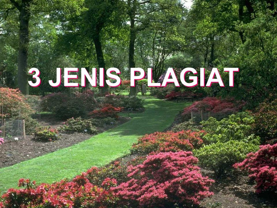 3 JENIS PLAGIAT