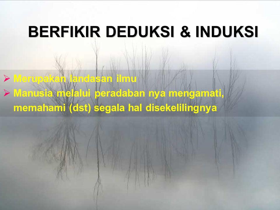 BERFIKIR DEDUKSI & INDUKSI