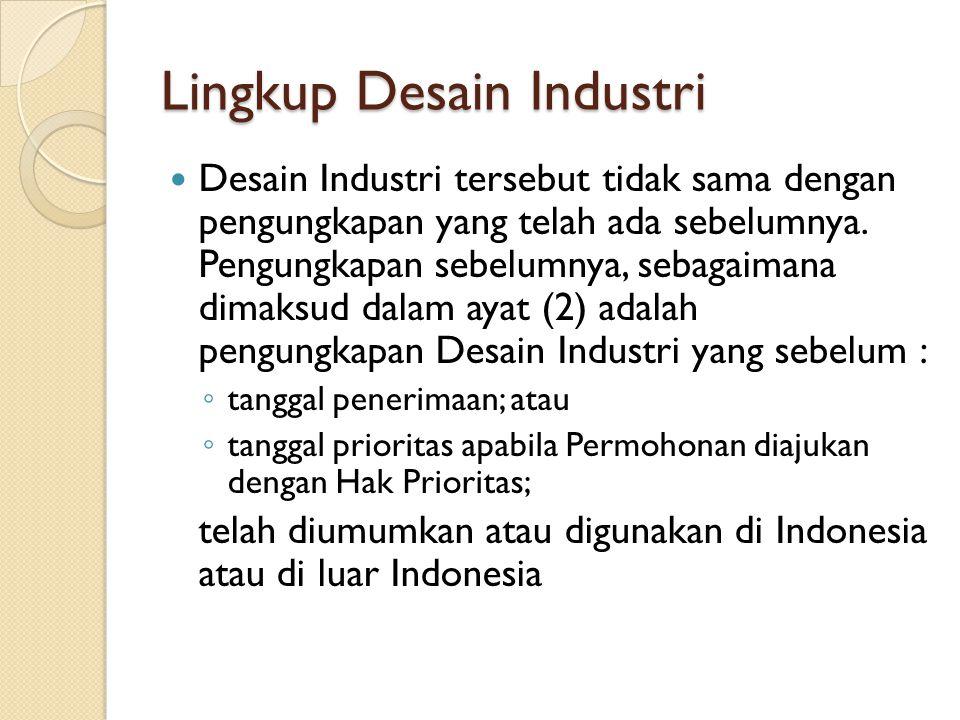 Lingkup Desain Industri