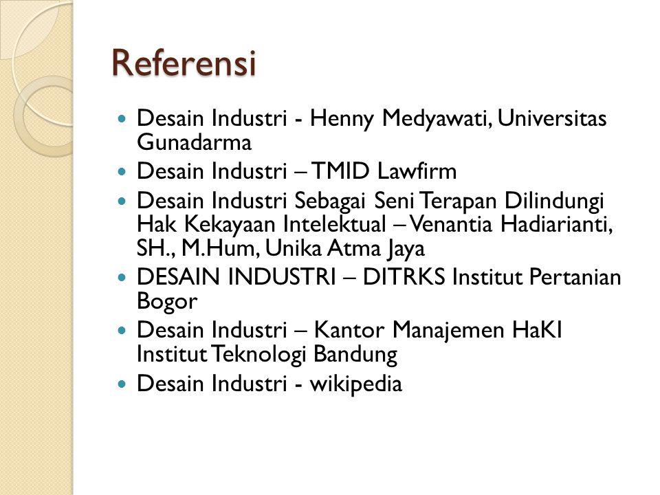 Referensi Desain Industri - Henny Medyawati, Universitas Gunadarma