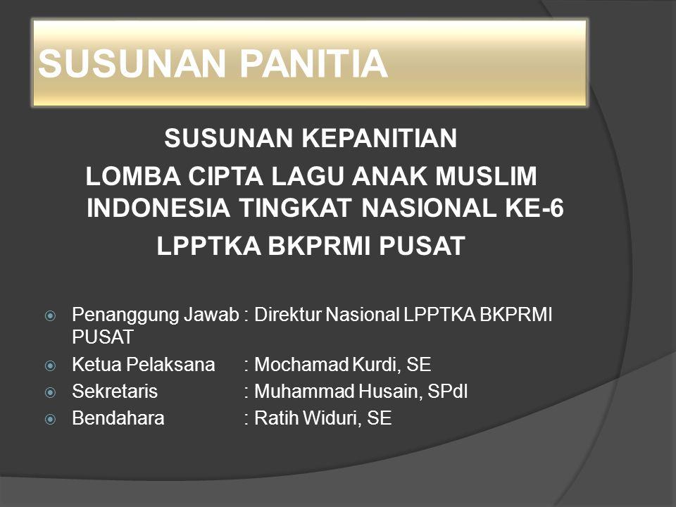 LOMBA CIPTA LAGU ANAK MUSLIM INDONESIA TINGKAT NASIONAL KE-6