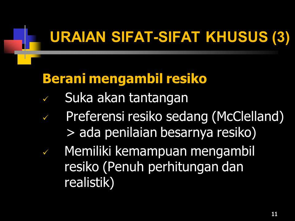 URAIAN SIFAT-SIFAT KHUSUS (3)