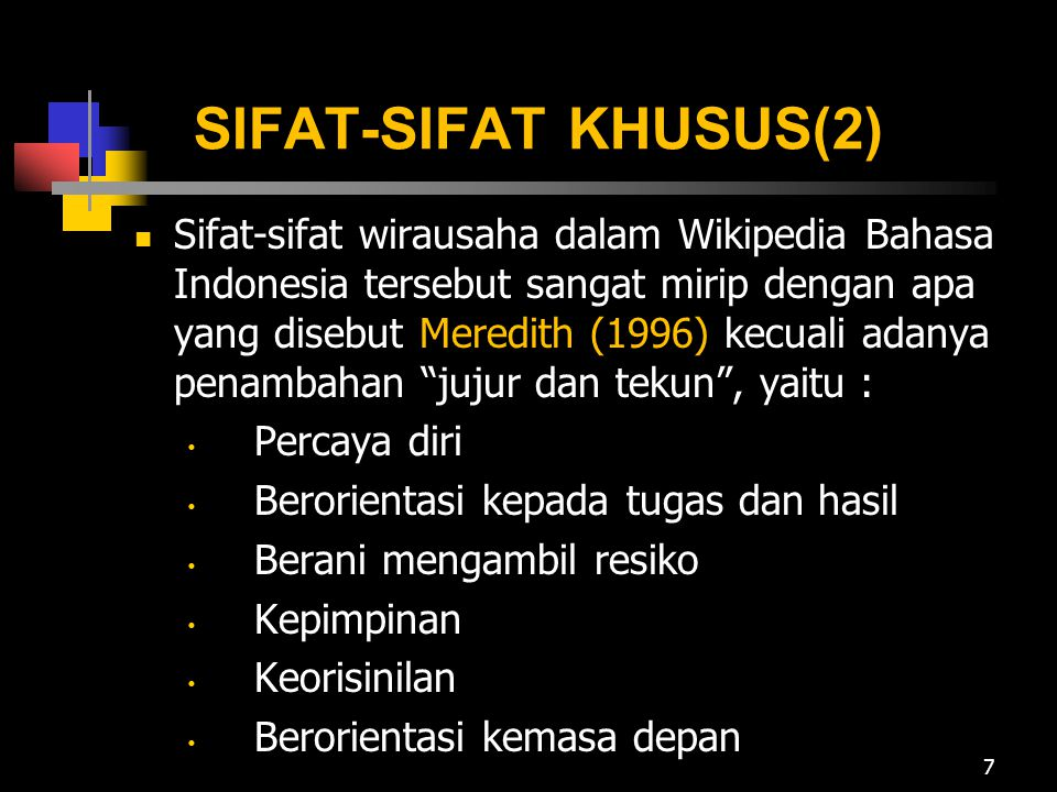 SIFAT-SIFAT KHUSUS(2)