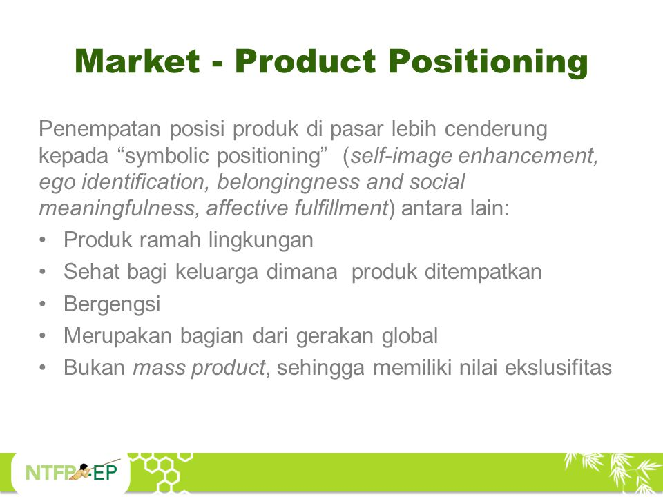Market - Product Positioning