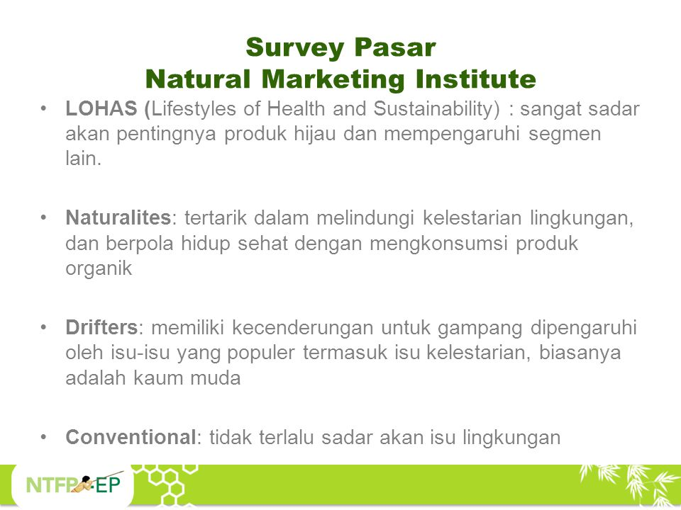Survey Pasar Natural Marketing Institute