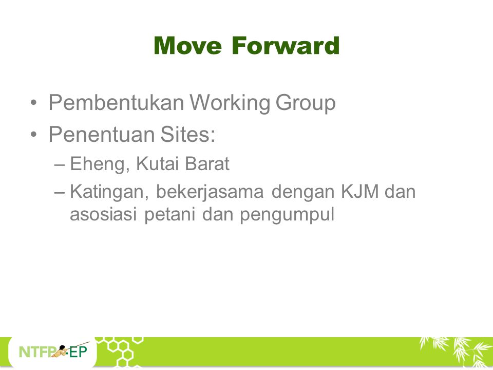 Move Forward Pembentukan Working Group Penentuan Sites: