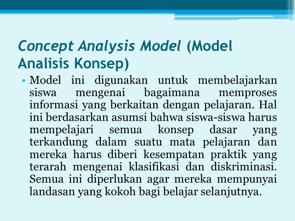 Concept Analysis Model (Model Analisis Konsep)