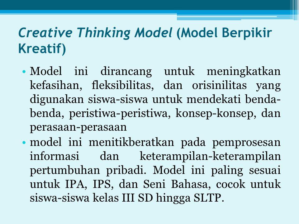 Creative Thinking Model (Model Berpikir Kreatif)
