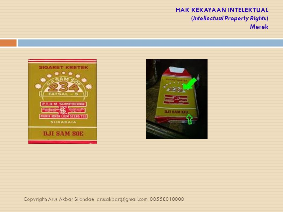 HAK KEKAYAAN INTELEKTUAL (Intellectual Property Rights) Merek