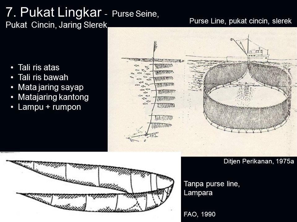 7. Pukat Lingkar - Purse Seine, Pukat Cincin, Jaring Slerek