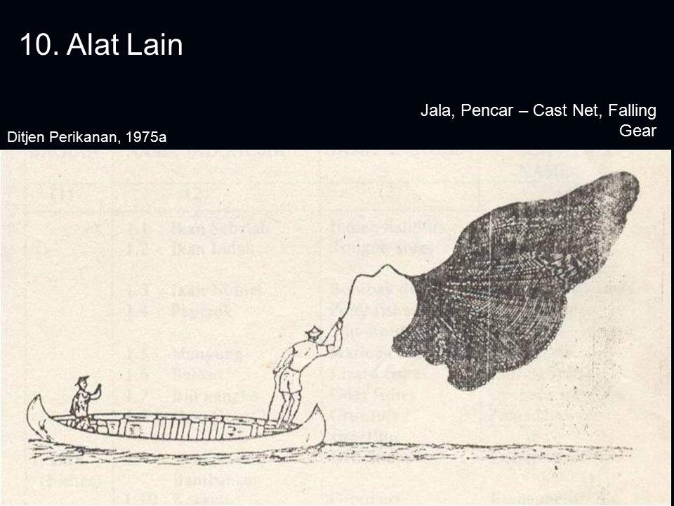 10. Alat Lain Jala, Pencar – Cast Net, Falling Gear