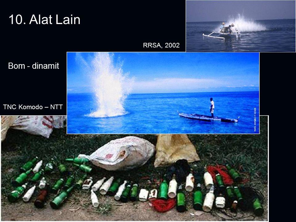 10. Alat Lain Bom - dinamit RRSA, 2002 TNC Komodo – NTT