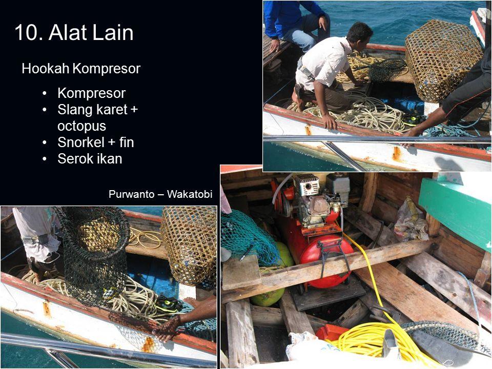 10. Alat Lain Hookah Kompresor Kompresor Slang karet + octopus