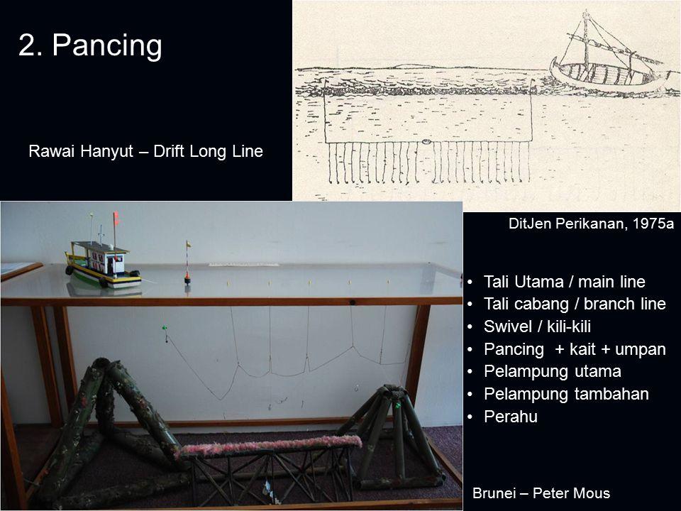 2. Pancing Rawai Hanyut – Drift Long Line Tali Utama / main line
