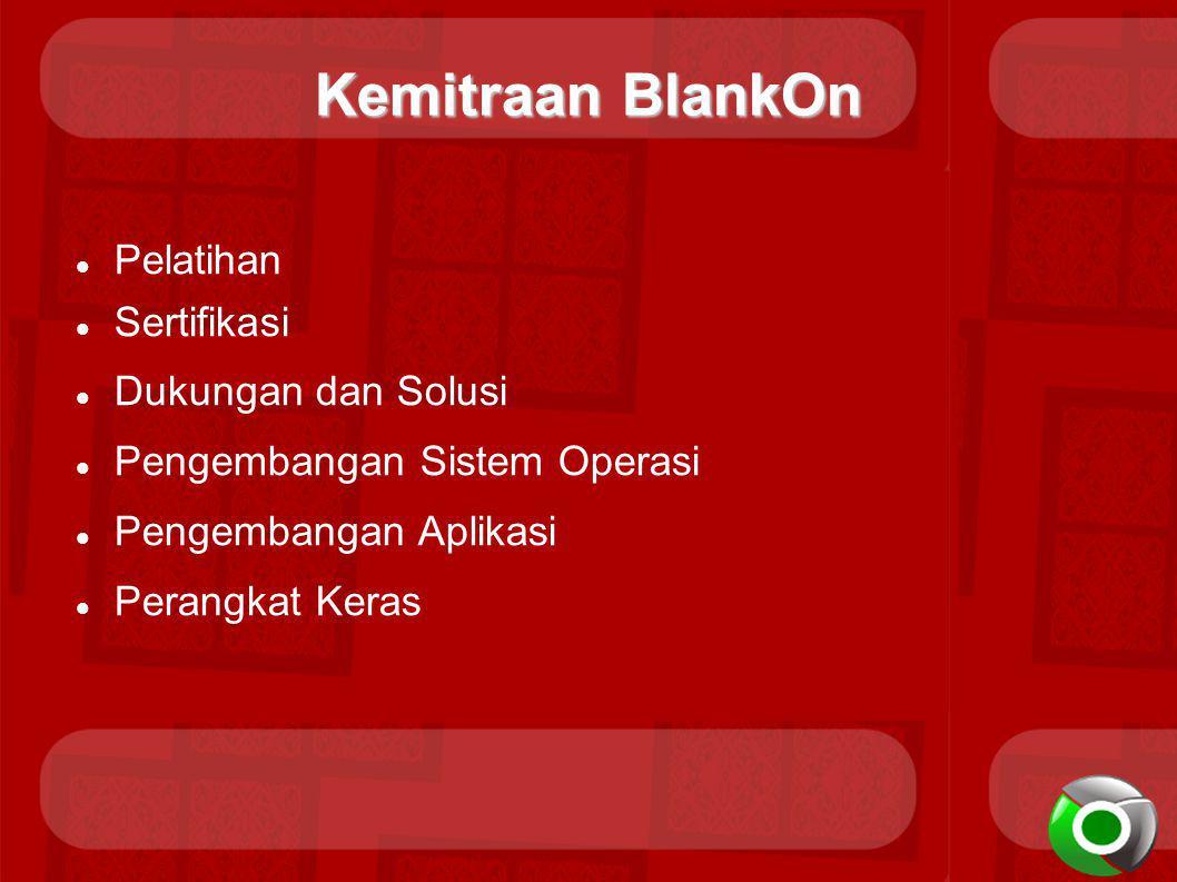 Kemitraan BlankOn Pelatihan Sertifikasi Dukungan dan Solusi