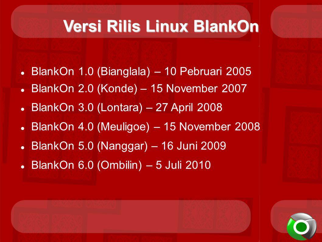 Versi Rilis Linux BlankOn