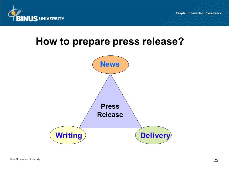 How to prepare press release