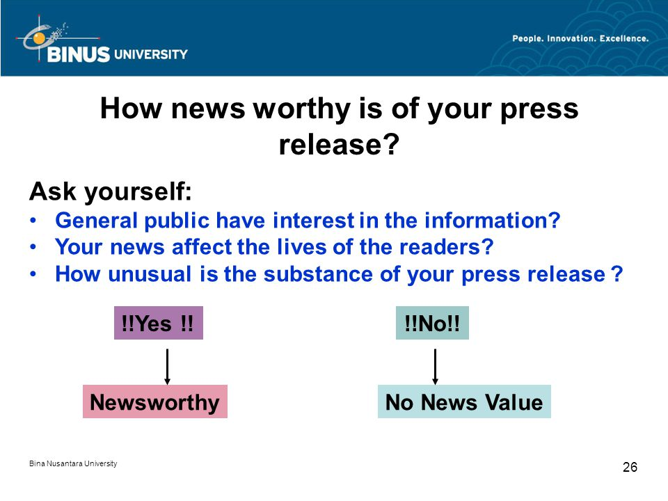 How news worthy is of your press release