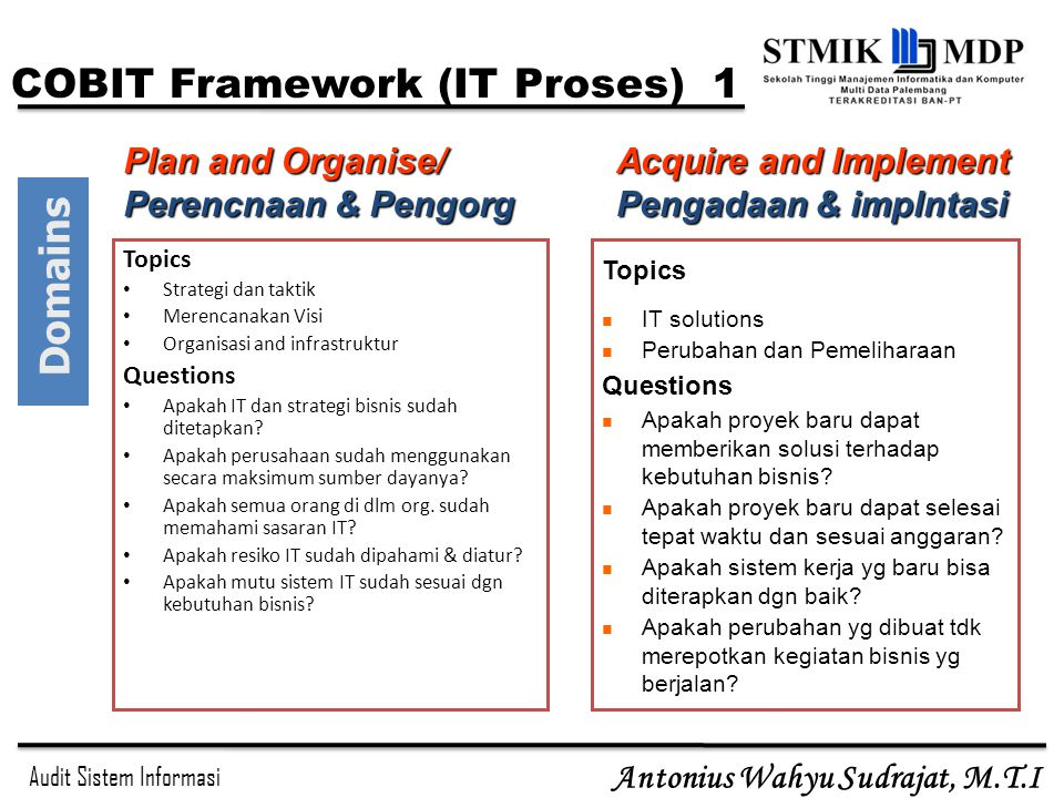 COBIT Framework (IT Proses) 1