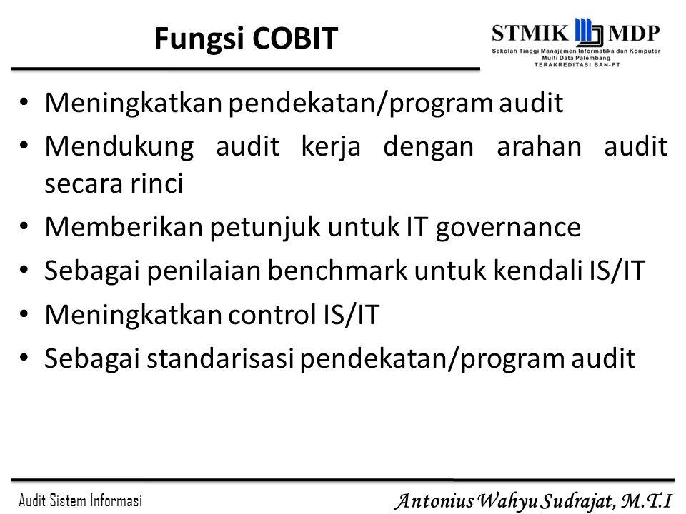 Fungsi COBIT Meningkatkan pendekatan/program audit
