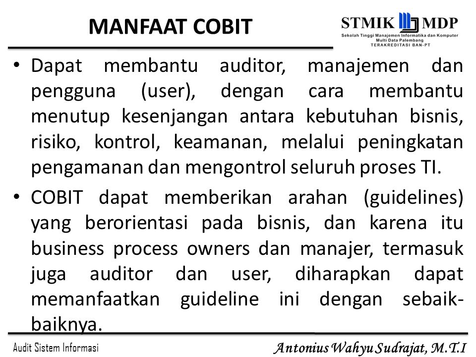 MANFAAT COBIT