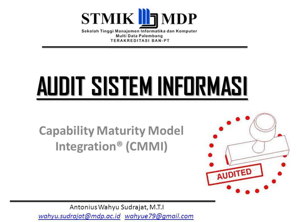 Capability Maturity Model Integration® (CMMI)