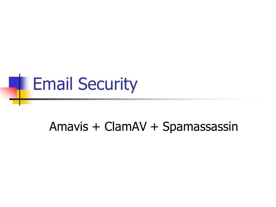 Amavis + ClamAV + Spamassassin