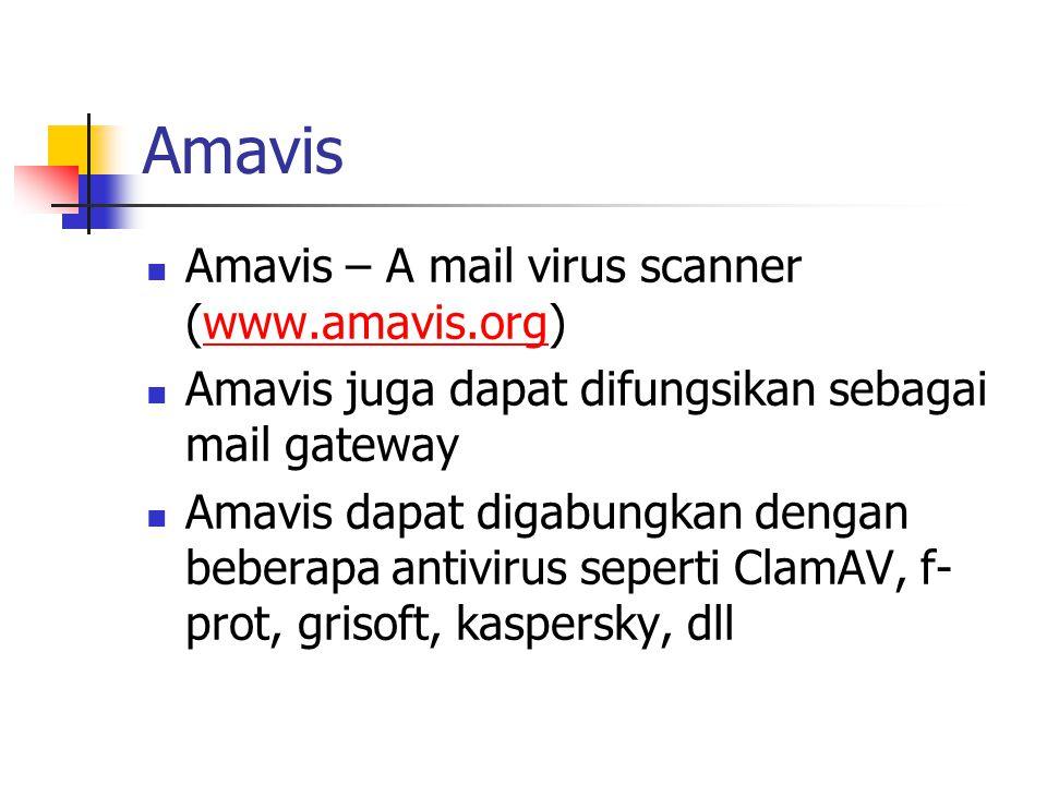 Amavis Amavis – A mail virus scanner (www.amavis.org)