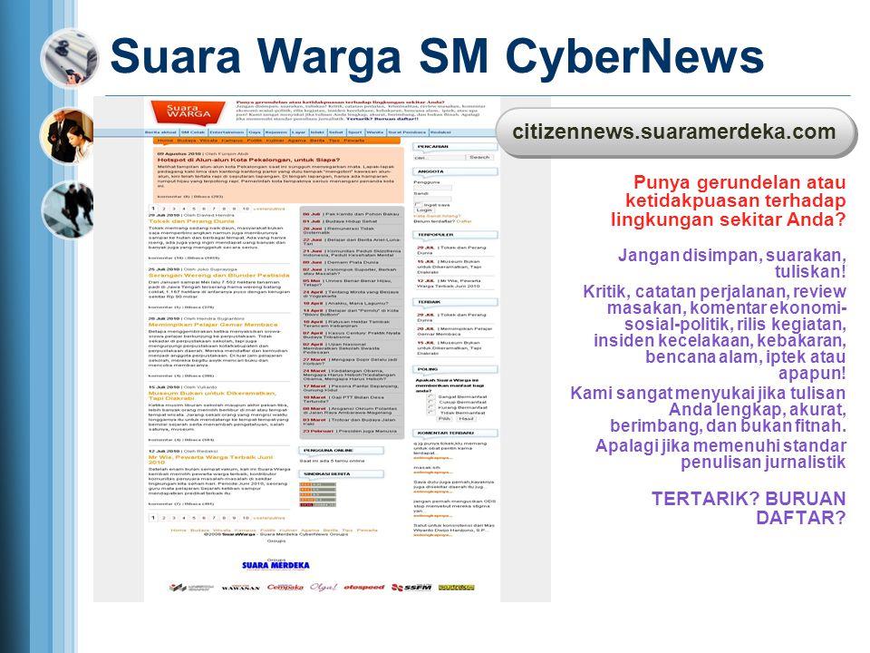 Suara Warga SM CyberNews