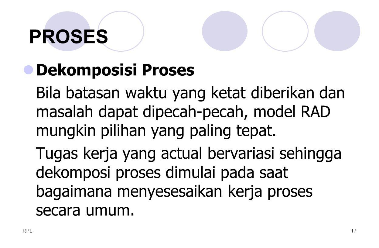 PROSES Dekomposisi Proses