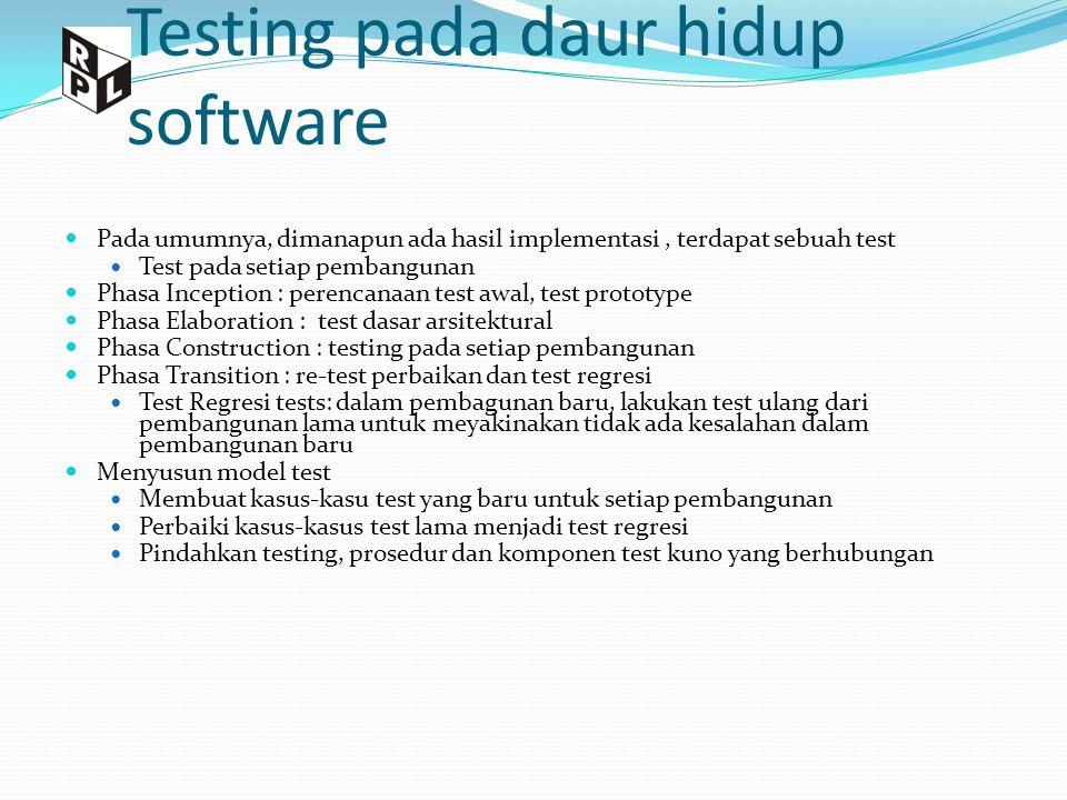 Testing pada daur hidup software