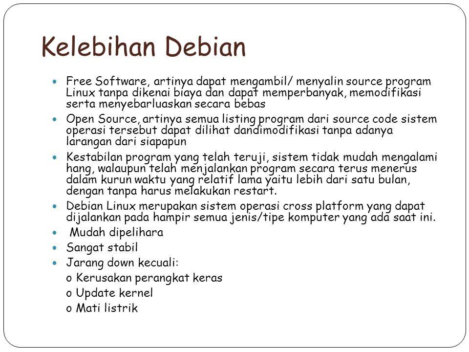 Kelebihan Debian