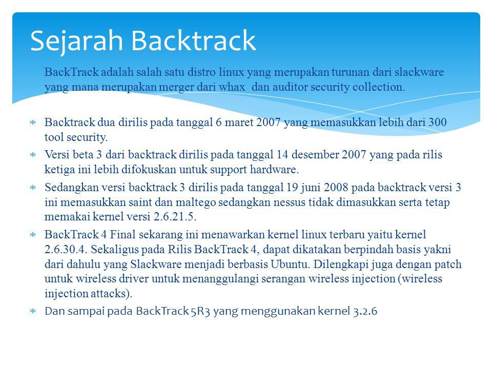 Sejarah Backtrack
