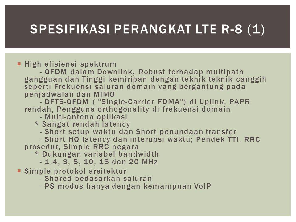 Spesifikasi Perangkat LTE r-8 (1)