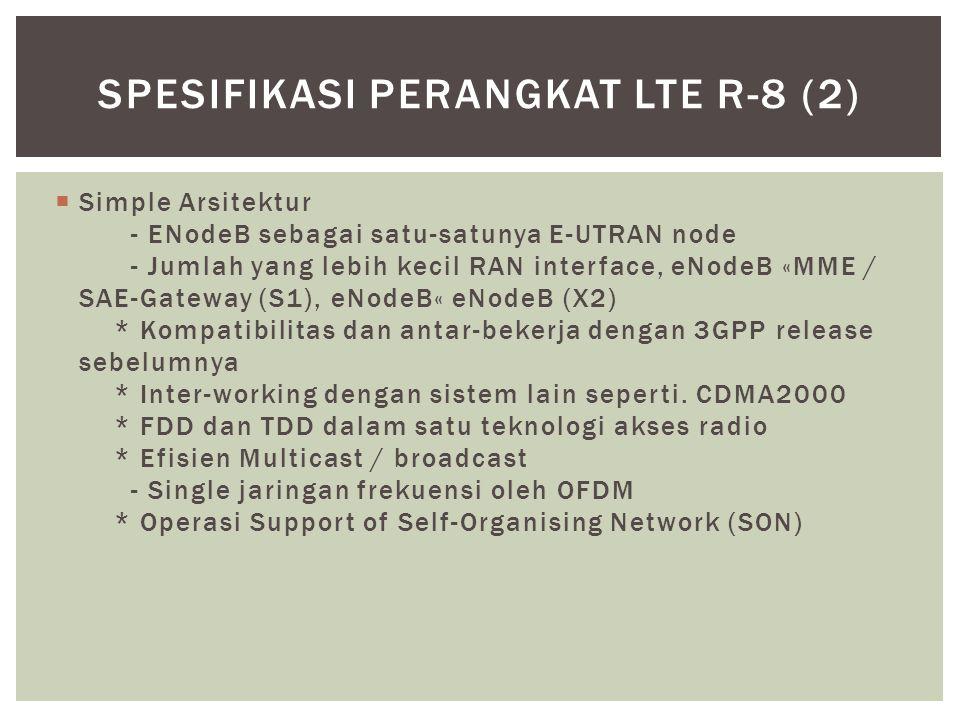 Spesifikasi Perangkat LTE r-8 (2)