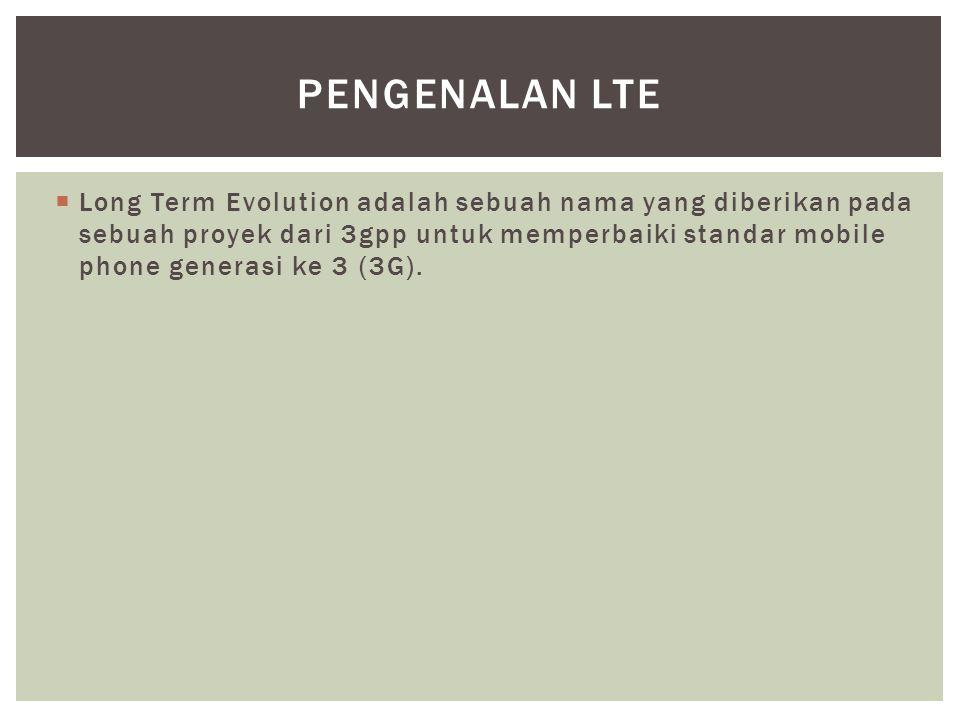 Pengenalan LTE