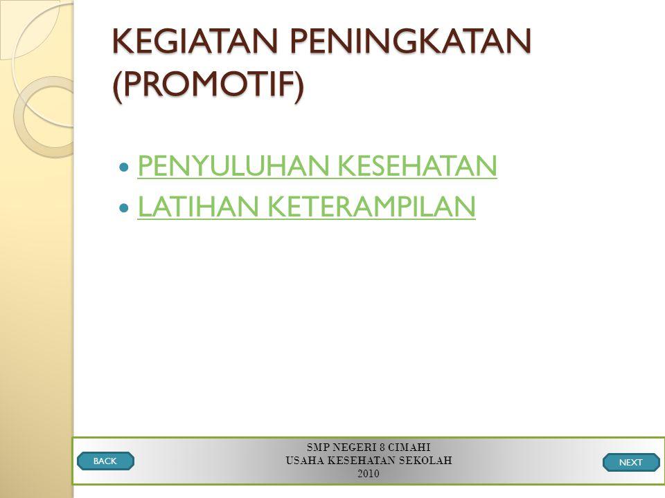KEGIATAN PENINGKATAN (PROMOTIF)