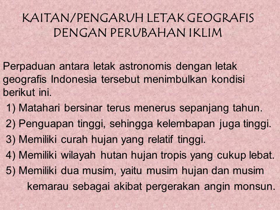 KAITAN/PENGARUH LETAK GEOGRAFIS DENGAN PERUBAHAN IKLIM