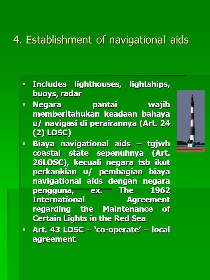 4. Establishment of navigational aids