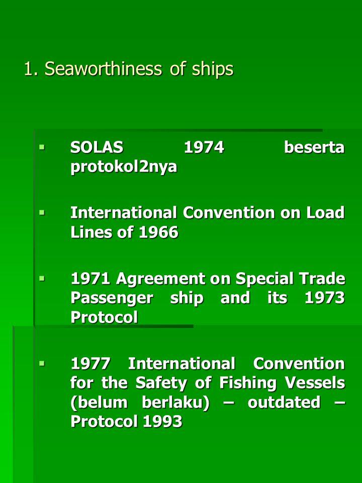 1. Seaworthiness of ships