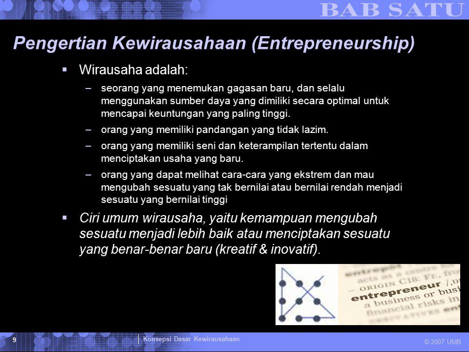 Pengertian Kewirausahaan (Entrepreneurship)