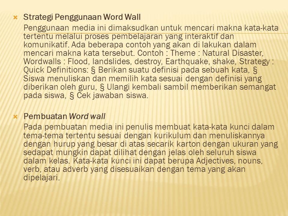 Strategi Penggunaan Word Wall