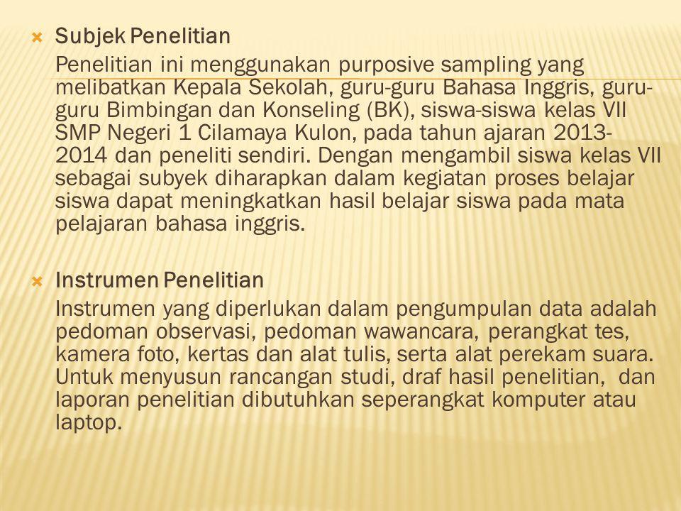 Subjek Penelitian