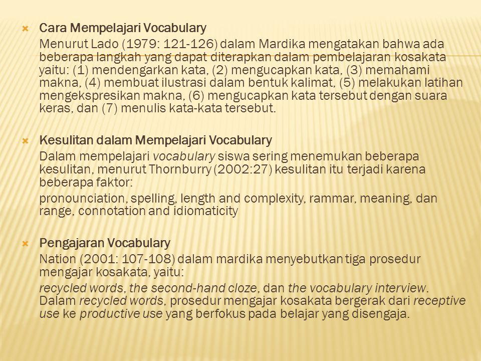 Cara Mempelajari Vocabulary