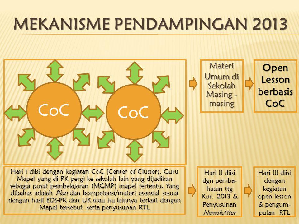 MEKANISME PENDAMPINGAN 2013