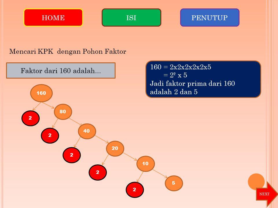Mencari KPK dengan Pohon Faktor