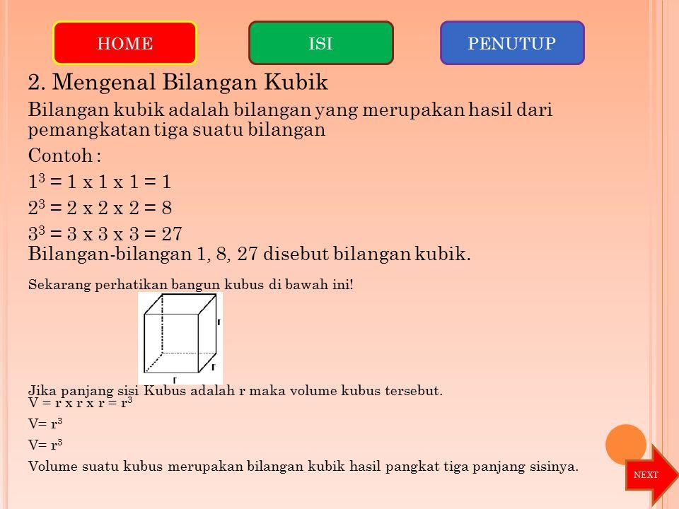 2. Mengenal Bilangan Kubik