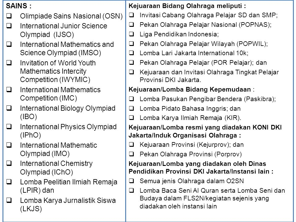 Olimpiade Sains Nasional (OSN)